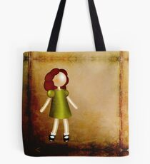 Curious Red-Haired Girl Tote Bag