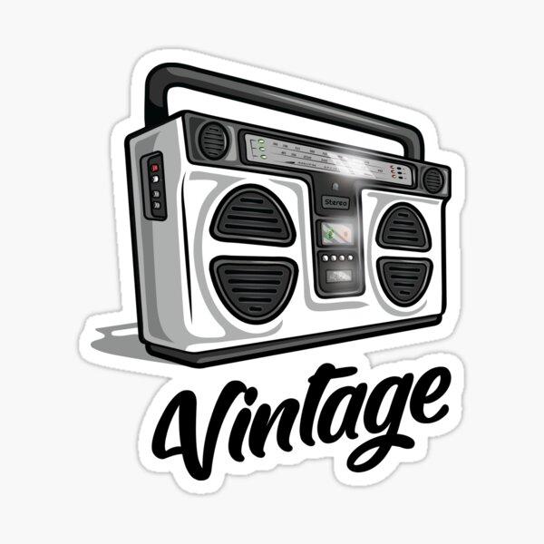 Vintage Hip Hop Boombox Graphic Sticker