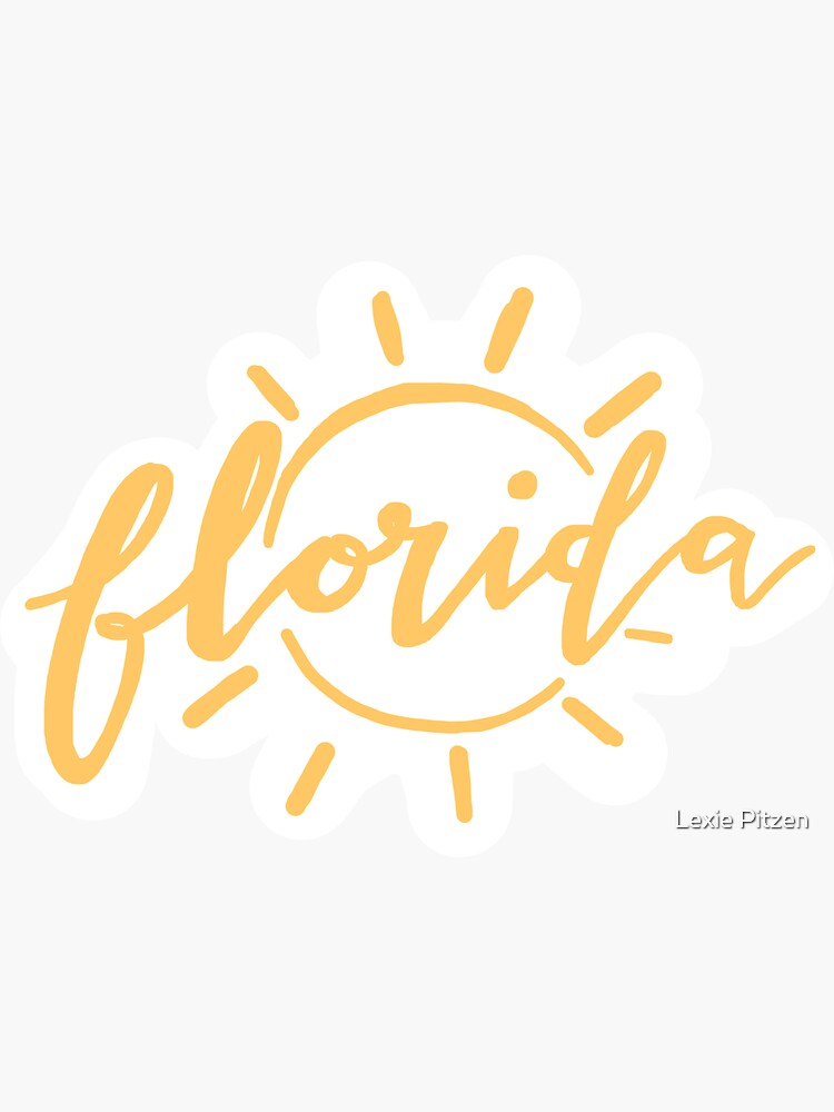 florida sunshine yellow aesthetic sticker by glowingly