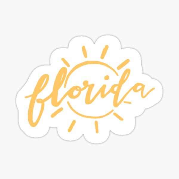 florida sunshine yellow aesthetic sticker Sticker