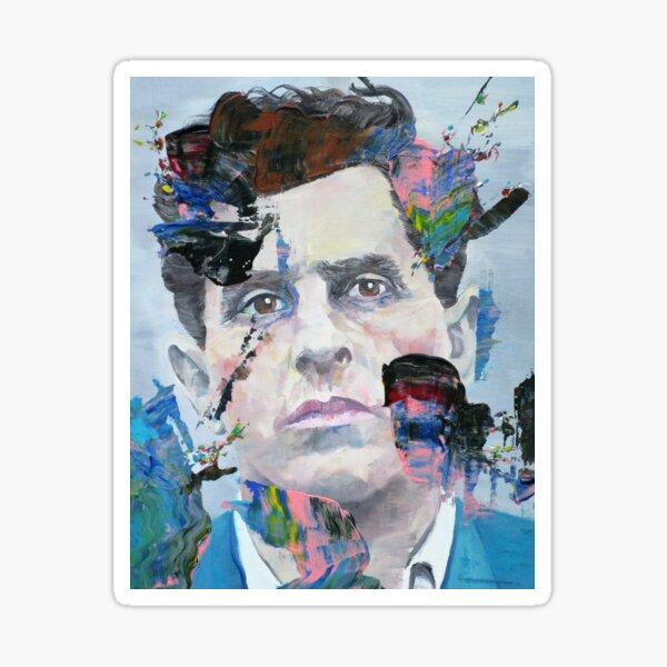 LUDWIG WITTGENSTEIN - oil portrait.3 Sticker