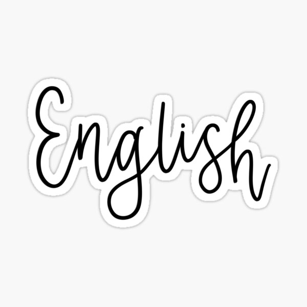 English - Folder/Binder sticker Sticker