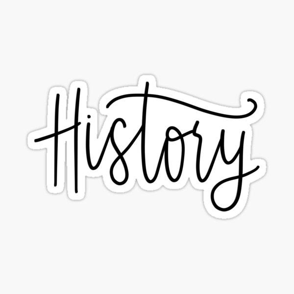 History Folder/Binder sticker Sticker
