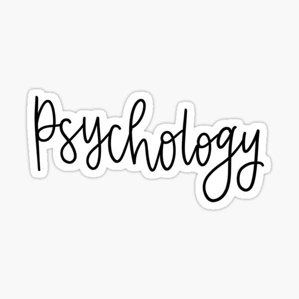 Carpeta de psicología / etiqueta adhesiva Pegatina