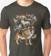 Eurasian wolves pattern Unisex T-Shirt