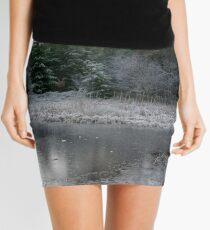 The Secret Woodland Pond in Winter Mini Skirt
