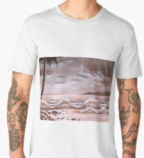 The sea at dusk Men's Premium T-Shirt