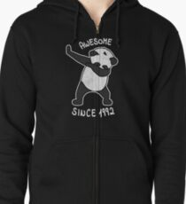 Dabbing Panda Awesome Since 1992 - Funny  26th Birthday Shirt Gift Zipped Hoodie