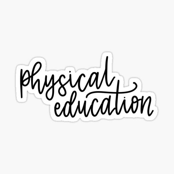 Carpeta de educación física / etiqueta adhesiva Pegatina