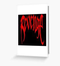 XXXTENTACION Revenge Kill Hoodie Greeting Card