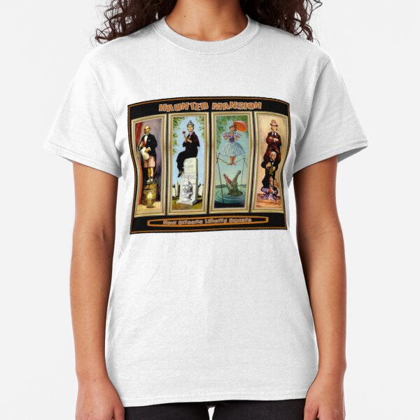 HAUNTED MANSION : Vintage New Orleans Liberty Square Prints. Classic T-Shirt