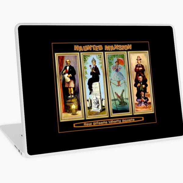 HAUNTED MANSION : Vintage New Orleans Liberty Square Prints. Laptop Skin