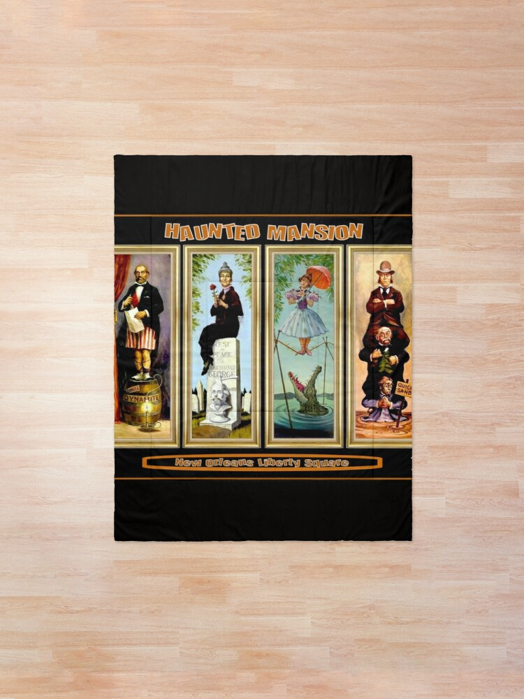 Alternate view of HAUNTED MANSION : Vintage New Orleans Liberty Square Prints. Comforter