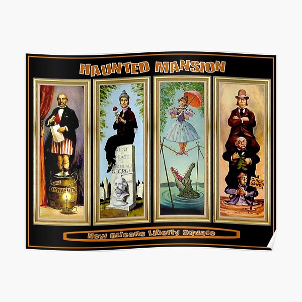 HAUNTED MANSION : Vintage New Orleans Liberty Square Prints. Poster