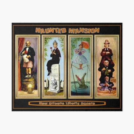 HAUNTED MANSION : Vintage New Orleans Liberty Square Prints. Art Board Print