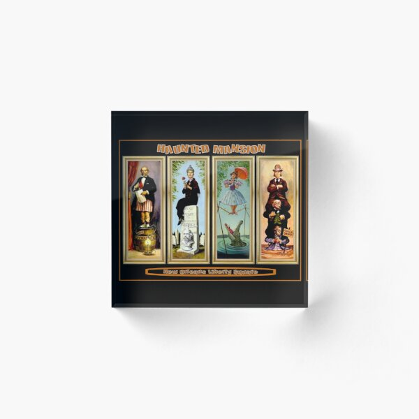 HAUNTED MANSION : Vintage New Orleans Liberty Square Prints. Acrylic Block
