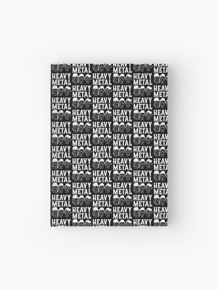 Heavy Metals Funny Science Joke Periodic Table Hardcover Journal