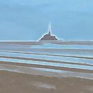 Tide in the Bay of Mont Saint Michel by Menega  Sabidussi