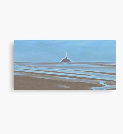 Tide in the Bay of Mont Saint Michel Canvas Print