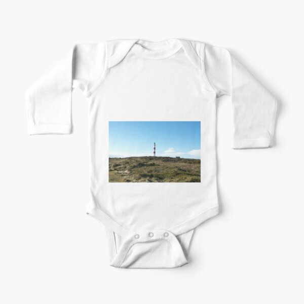 Lighthouse at Tarbet Ness Long Sleeve Baby One-Piece