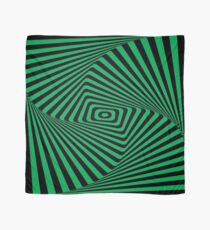 Op-Art Rad Rectangles in Green Scarf