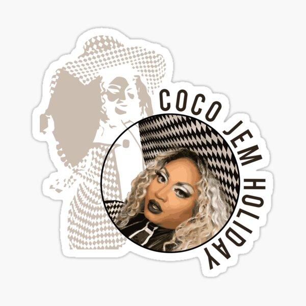 Coco Jem Holiday - Checkered  Sticker