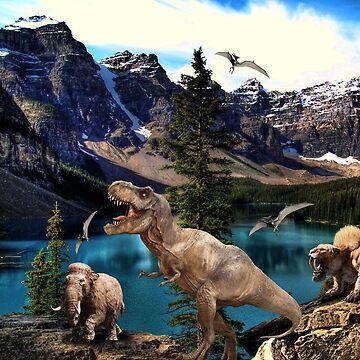 Dinosaur  land  by johnnyssandart