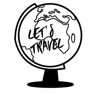 Let's travel (black) by EleYeah