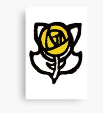 Arts and Crafts Rose Design Canvas Print