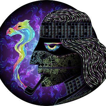 Amazon Ayahuasca Shaman Psychedelic Art by grebenru