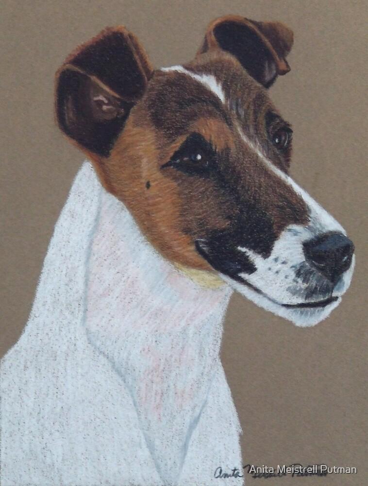 Fox Terrier Vignette by Anita Putman