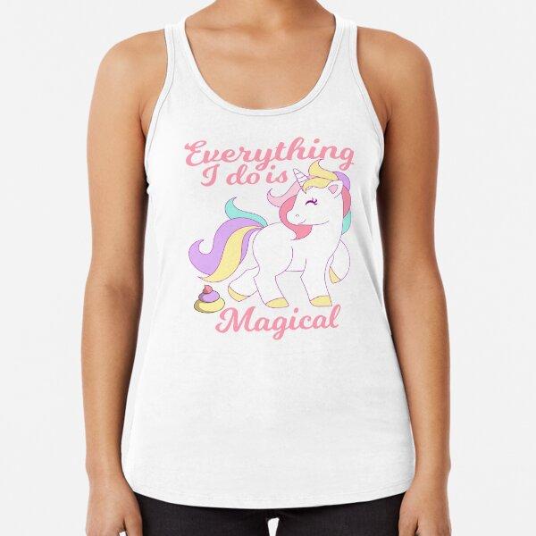 Tee Hunt Unicorn DAB Dancing Muscle Shirt Fabulous Rainbow Sparkling Pony Star Sleeveless