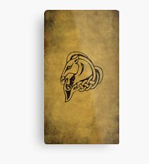 Whiterun Logo · Distressed Metal Print
