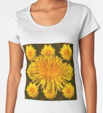 YELLOW DANDELIONS ART DESIGN Women's Premium T-Shirt