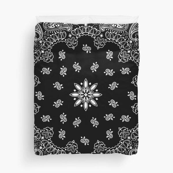 Black bandana Duvet Cover