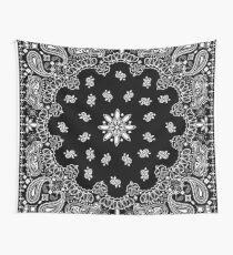 Black bandana Wall Tapestry