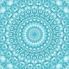 Caribbean Blue Mandala by Kelly Dietrich