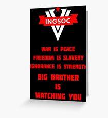 INGSOC Guidelines Greeting Card