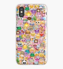 happy emoji pattern iPhone Case