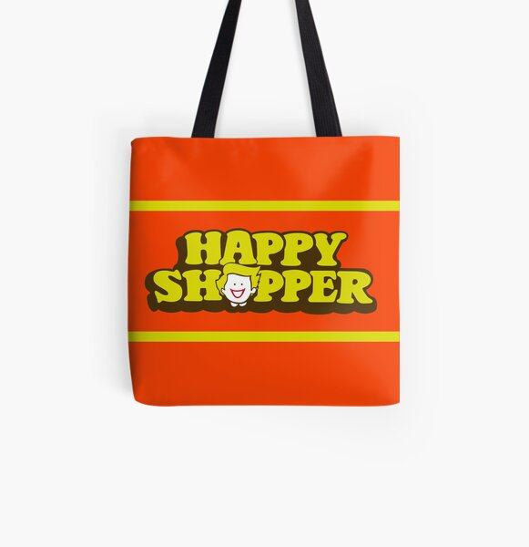 Happy Shopper All Over Print Tote Bag