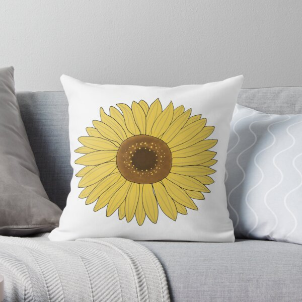 Sunflower yellow Throw Pillow