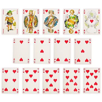 POKER CARDS HEARTS  by CARVAL