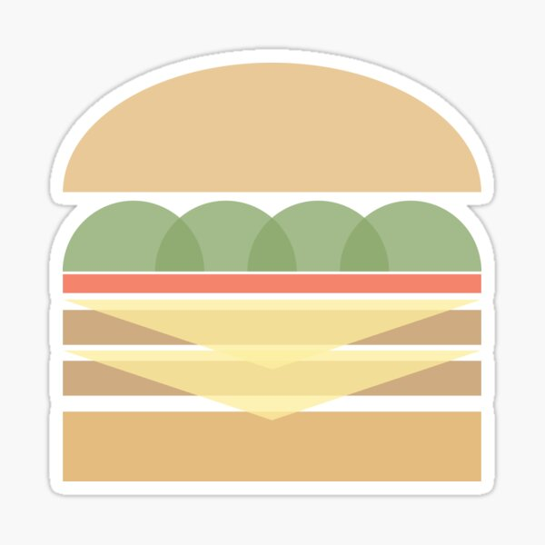 Geometric Hamburger Sticker