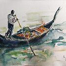 Gondola and Venice  by Ivana Pinaffo