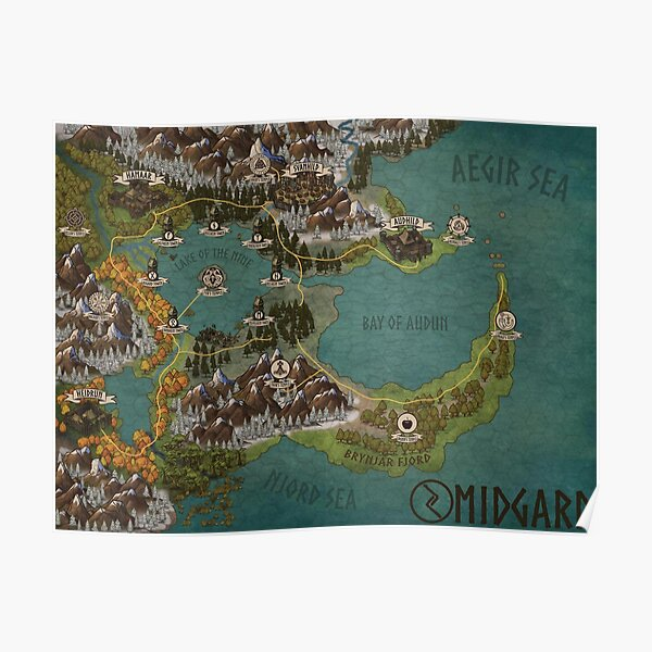 """Midgard"" DUNGEONS & DRAGONS World Map Poster"