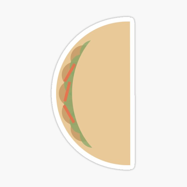 Geometric Taco Sticker