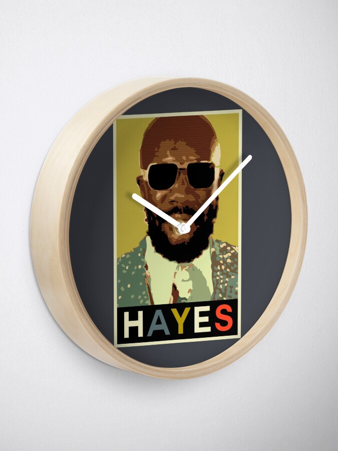 Alternate view of Isaac Hayes Clock