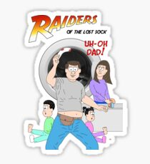 Raiders of the Lost Sock Sticker