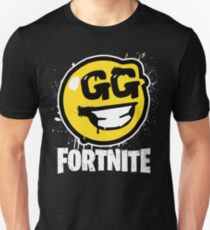 Fortnite Battle Royale GG Good Game Graffiti Spray Smiley Face Shirt Unisex T-Shirt