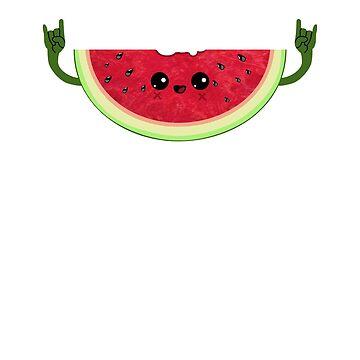 Funny Melon rocks T-Shirt - Cute Watermelon Festival Gift by Cheesybee